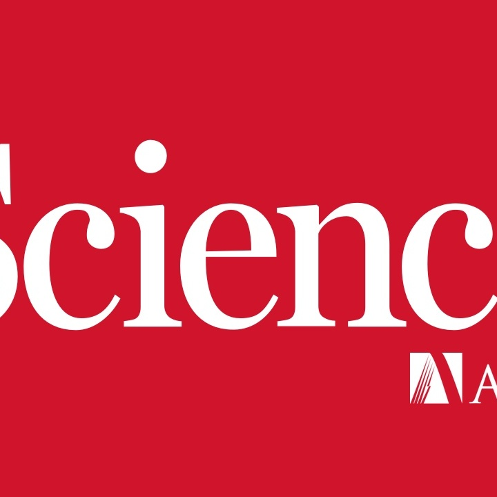 Science Magazine AAAS Logo - White text over red background