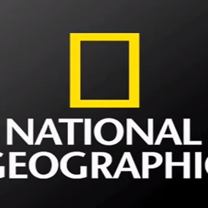 National Geographic Logo - Yellow border outline over white text